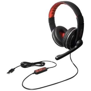 UHP-02BK ヘッドセット ブラック [USB /両耳 /ヘッドバンドタイプ]