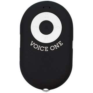 MA-105 ブルートゥース スピーカー VOICE ONE(ボイスワン) ブラック [Bluetooth対応]