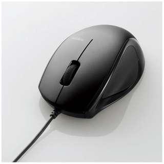 マウス ブラック M-LS14ULBK [レーザー /有線 /3ボタン /USB]