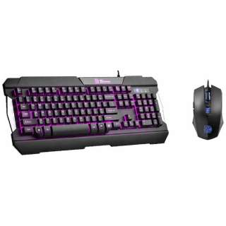 KB-CCM-PLBLJP-01 有線ゲーミングキーボード・マウス COMMANDER ブラック [USB /有線]