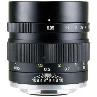 カメラレンズ 35mm F0.95 II APS-C用 SPEEDMASTER ブラック [ソニーE /単焦点レンズ]