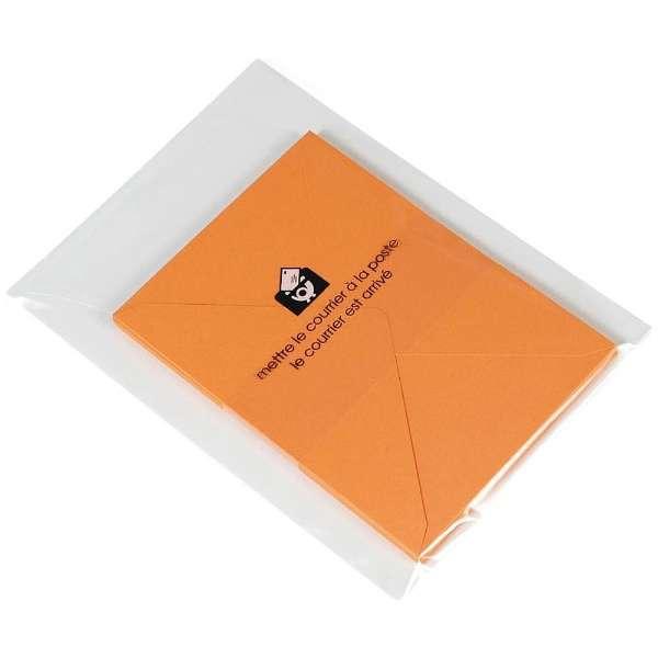[レターセット] EDC A5レターセット Color Paper (画用紙) オレンジ (封筒10枚+便箋20枚+罫線台紙:1枚) LT6-G-08