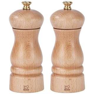 279192 ペッパー&ソルトミルセット 13cm クレモン 白木