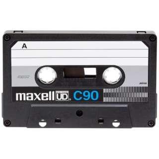 UDC90 カセットテープ 「UD」シリーズ 復刻版 ブラックハーフ [1本 /90分 /ノーマルポジション]