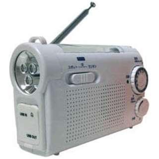 手回し充電ラジオライト WINTECH(ウィンテック) ホワイト KDR-107W [AM/FM /ワイドFM対応]