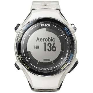 b74605d5da ビックカメラ.com | エプソン EPSON GPS機能搭載ウオッチ 「WristableGPS」 SF-850PC クールホワイト 通販