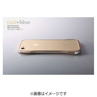 iPhone 7用 Cleave Aluminum Bumper Limited Edition ゴールド/シルバー DCB-IP7CLAGD