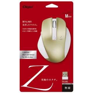 MUS-RKF129GL マウス Digio2 Zシリーズ ゴールド [BlueLED /5ボタン /USB /無線(ワイヤレス)]