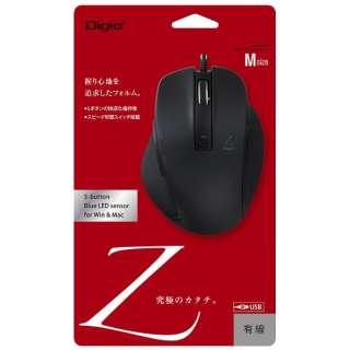 MUS-UKF130BK マウス Digio2 Zシリーズ ブラック [BlueLED /5ボタン /USB /有線]