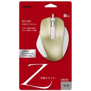 MUS-UKF130GL マウス Digio2 Zシリーズ ゴールド [BlueLED /5ボタン /USB /有線]