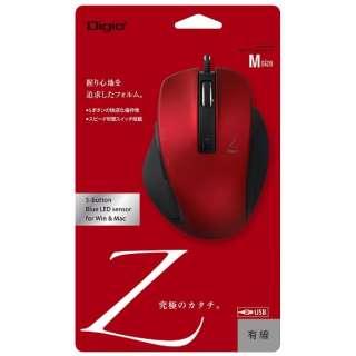 MUS-UKF130R マウス Digio2 Zシリーズ レッド [BlueLED /5ボタン /USB /有線]