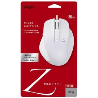MUS-UKF130W マウス Digio2 Zシリーズ ホワイト [BlueLED /5ボタン /USB /有線]