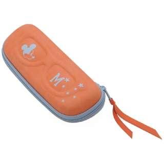 ミッキーマウス ファスナー式メガネケース(オレンジ)WDE-850E