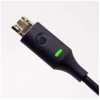 [micro USB]USBケーブル 充電・転送 2.4A (0.15m・ブラック)DCA-MBLED015BK [0.15m]