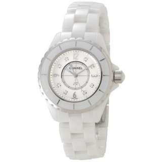promo code 29bc6 8fbe9 ビックカメラ.com - レディース腕時計 J12 33mm セラミック 8Pダイヤ H2422 ホワイト 【並行輸入品】