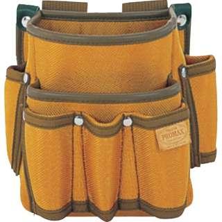 タジマ プロマックス 電工腰袋(2段/工具差し付)ブラウン PM-DE2K 《※画像はイメージです。実際の商品とは異なります》