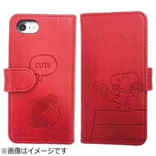 2f168fc54f iPhone 7用 手帳型 ピーナッツ フリップカバー ルーシー&スヌーピー SNG-172B