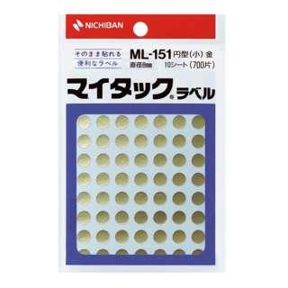 カラーラベル マイタック 金 ML-1519 [10シート /70面]