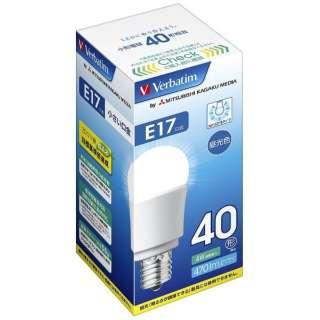 LDA4D-E17-G/V1B LED電球 小形電球形 バーベイタム(Verbatim) [E17 /昼光色 /1個 /40W相当 /一般電球形 /広配光タイプ]