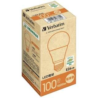 LDA12L-G/V5 LED電球 バーベイタム(Verbatim) [E26 /電球色 /1個 /100W相当 /一般電球形 /広配光タイプ]