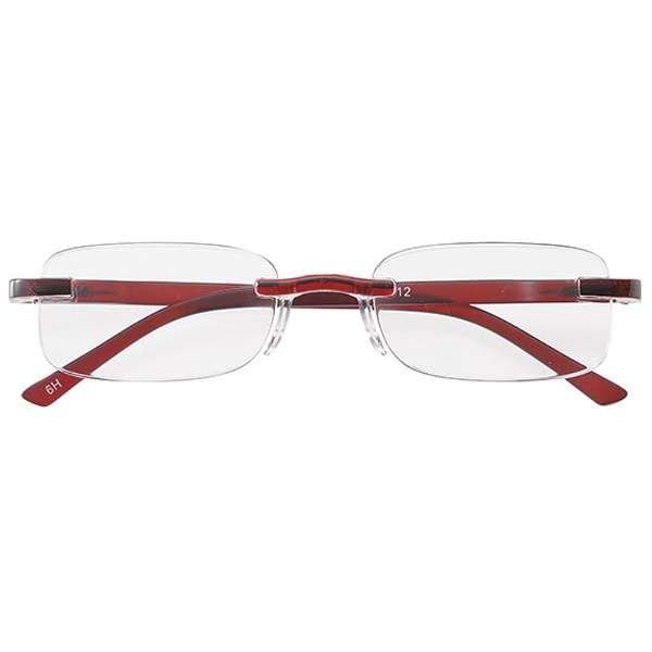 老眼鏡 ライブラリーコンパクト 4412(レッド/+3.50)