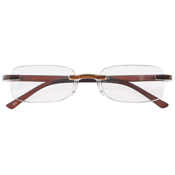 老眼鏡 ライブラリーコンパクト 4411(ブラウン/+1.50) 4411-15