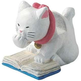 猫日和シリーズ メガネホルダー(読書 シロ)SCZ1584WH