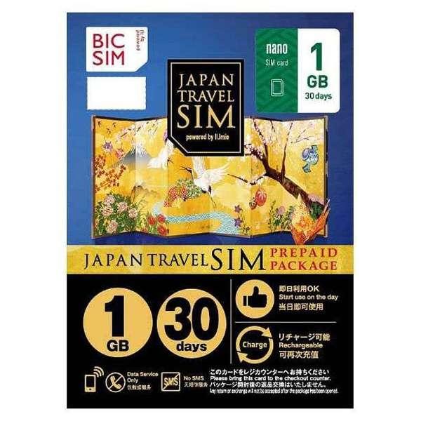 Nano SIM 「BIC SIM JAPAN TRAVEL SIM/1GB」 Prepaid・Data only・SMS unavailable IM-B192