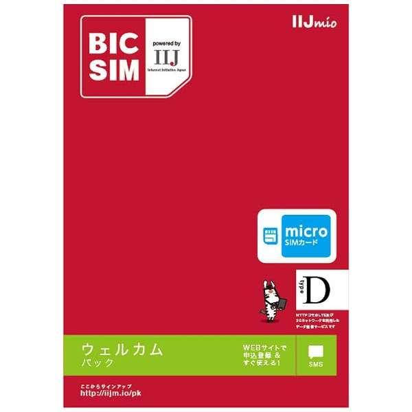 マイクロSIM 「BIC SIM」 データ通信専用・SMS対応 IM-B173