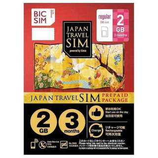 Regular SIM 「BIC SIM JAPAN TRAVEL SIM/2GB」 Prepaid・Data only・SMS unavailable IM-B187