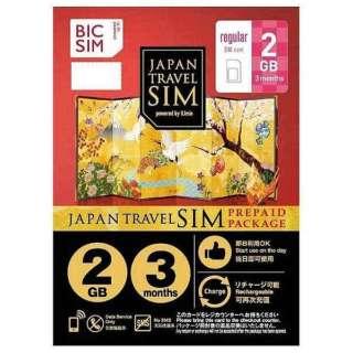 "Regular SIM""BIC SIM JAPAN TRAVEL SIM/2GB""Prepaid、Data only、SMS unavailable IM-B187"