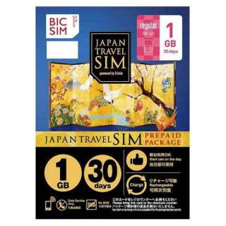 Regular SIM 「BIC SIM JAPAN TRAVEL SIM/1GB」 Prepaid・Data only・SMS unavailable IM-B190