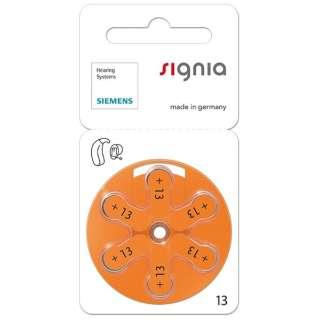 補聴器用電池 空気電池 signia(シグニア) [6本 /PR48(13)]