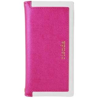 iPhone 7用 rienda スクエア 手帳型ケース ピンク 2016IP-72226