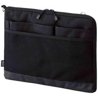 タブレットPC対応[~12インチ] バッグインバッグ ヨコ型 A4サイズ SMART FIT ACTACT A-7681-24 ブラック