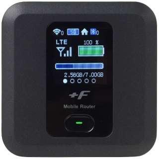 【SIMフリー】富士ソフト FS030W ブラック [FS030WMB1] LTE/Wi-Fi[無線a/b/g/n/ac]microSIMx1 SIMフリーモバイルルーター