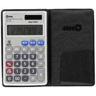 【アウトレット品】 「2電源 手帳サイズ電卓(税計算機能付)」 (12桁) KCL-002
