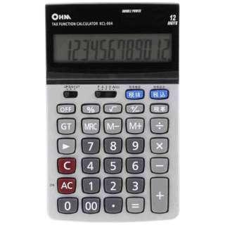 2電源 ビジネスL電卓 税計算機能付 KCL-004 [12桁]