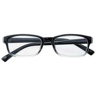 老眼鏡 ライブラリー 4470(ブラッククリア/+1.00)