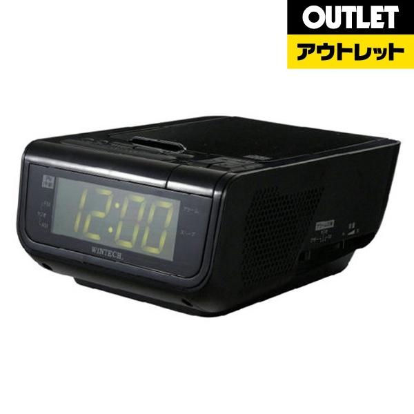 WINTEH Dクロックラジオ D-10 K ブラック D再生対応 時計機能付 ラジオ機能付 UB充電機能付 D-10K