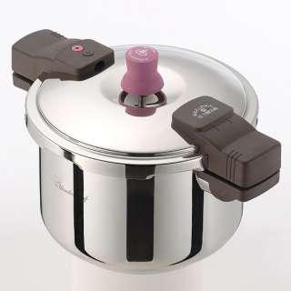 ≪IH対応≫ 圧力鍋ガラス蓋付 「あなたと私の圧力魔法鍋」(5.5L) 640611
