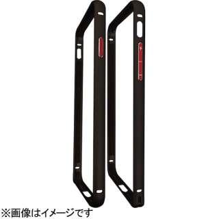 iPhone 7用 バンパーフレーム 表面マット加工 ブラック×レッド BFI7-04