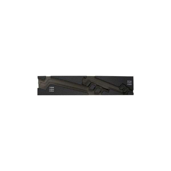 TRUSCO EVAフォーム 黒×灰 3段式工具箱用 TIT44SRF1 《※画像はイメージです。実際の商品とは異なります》
