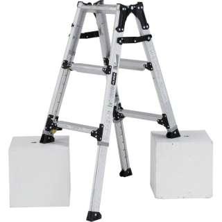 アルインコ 伸縮脚立(ステップ幅広)90cm 最大使用質量100kg PRW90FX 《※画像はイメージです。実際の商品とは異なります》