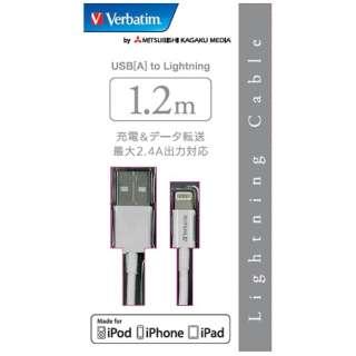 [ライトニング]ケーブル 充電・転送 2.4A (1.2m・ホワイト)MFi認証 CBL120SLWV1