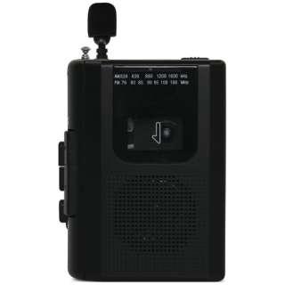 ポータブルカセットレコーダー ブラック BC-CR01-BK [ラジオ機能付き]