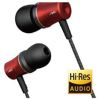 ac405c9e74b456 [high res sound source correspondence] Canal type Earphone (red) HP-NEH31R