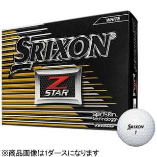 【スリーブ単位販売になります】ゴルフボール スリクソン Z-STAR《1スリーブ(3球)/ホワイト/2017年モデル》 【オウンネーム非対応】