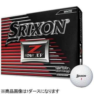 【スリーブ単位販売になります】ゴルフボール スリクソン Z-STAR XV《1スリーブ(3球)/ホワイト/2017年モデル》 【オウンネーム非対応】