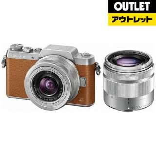 【アウトレット品】 DMC-GF7W-T ミラーレス一眼カメラ LUMIX GF7 ブラウン [ズームレンズ+ズームレンズ] 【生産完了品】